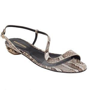 Nicholas Kirkwood Asymmetrical-Strap Python Sandal